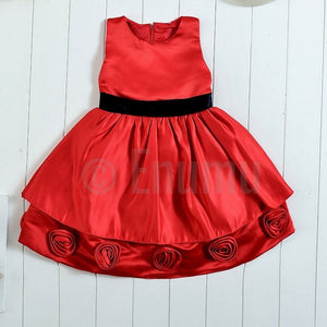 Red & Black Grand Baby Dress - Enumu