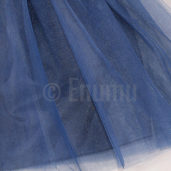 Dark Blue Flower Grand Dress - Enumu