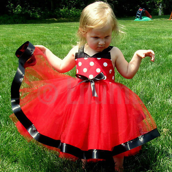 Red and Black Dress ( Size 1 - 6 ) - Enumu