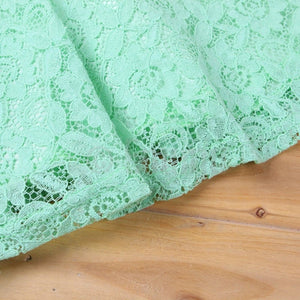 Green Lace Dress (Size 3 - 9 Yrs) - Enumu