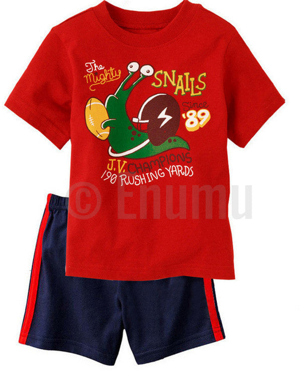 Short Sleeve T-shirt and Pant JV Champions Toddler Boys set - Enumu