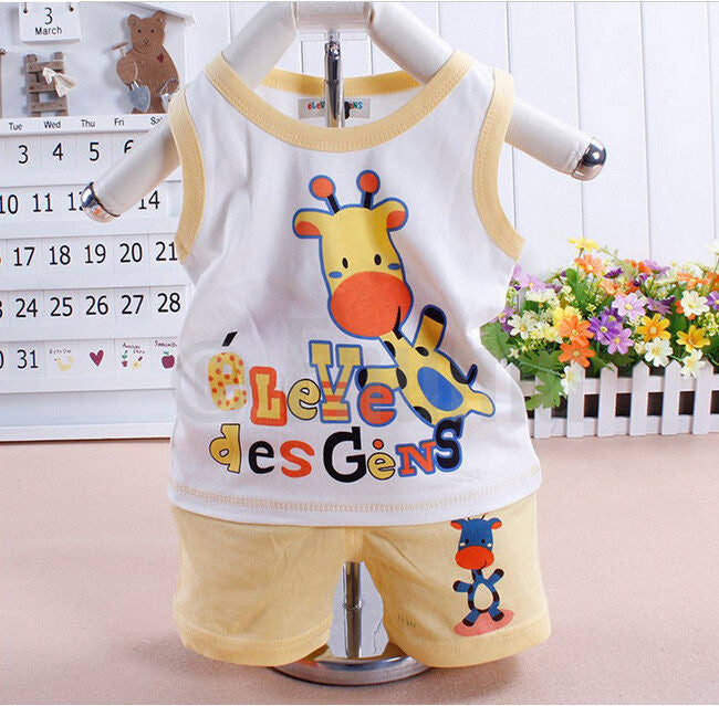 T-shirt and Pant Giraffe Toddler Boys set - Enumu