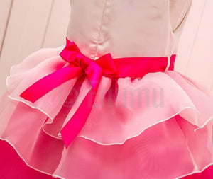 Bow knot with Rose Flower Pink Dress ( Ages 2 - 10) - Enumu
