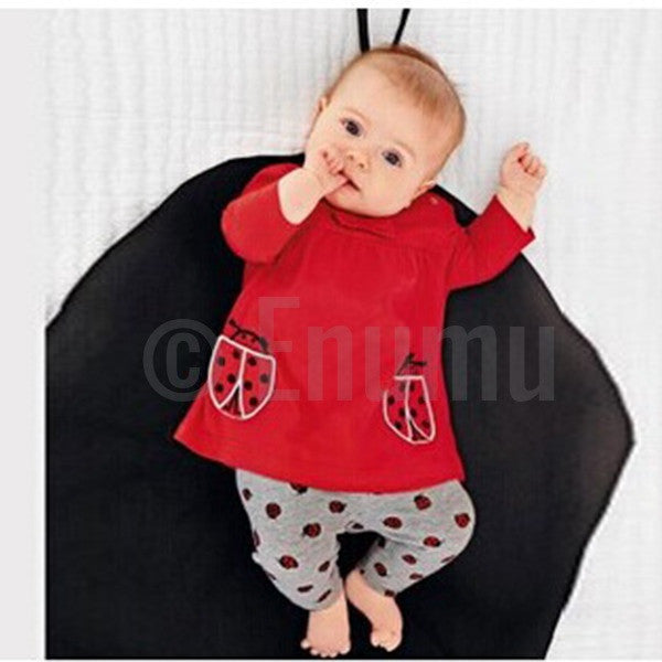 Baby Girl Full Hands Little Bugs Top and  Tights - Enumu