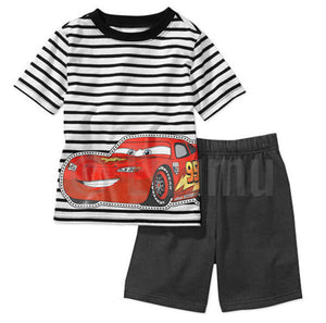 Short Sleeve T-shirt and Pant Mc Queen Toddler Boys set - Enumu