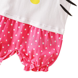 Hello Kitty Baby Girl White Onesie Romper - Enumu