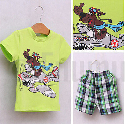 Scooby- Doo T-shirt and Pant Toddler Boys set - Enumu