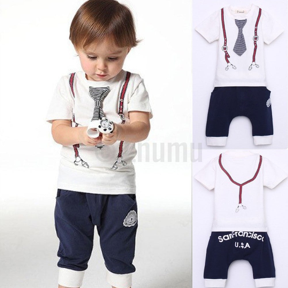 T-shirt and Pant San Francisco USA Toddler Boys set (Size 3 - 8 yrs) - Enumu  - 1