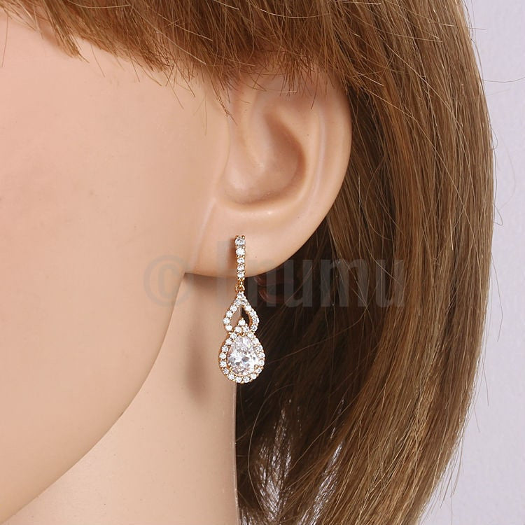 Drop CZ Earrings - Enumu