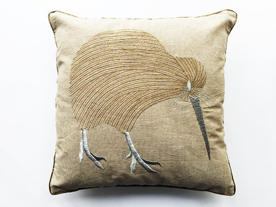 Kiwi Linen Cushion Lurex 35X35