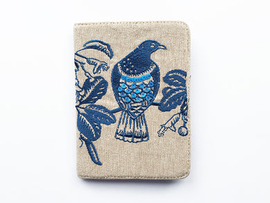 Z Woodpigeon Passport Navy on Linen