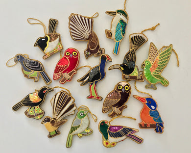 ASST pack of 6 NZ Bird Decorations