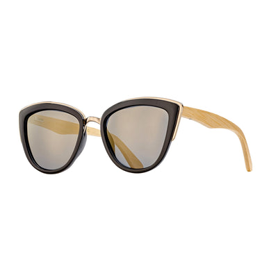 Bailey Black & Gold with bamboo arm / Polarized