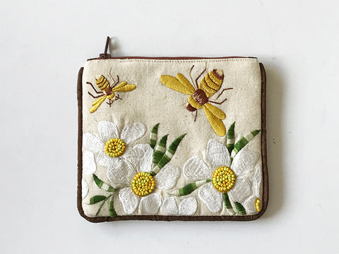 Small Coin Purse Bee