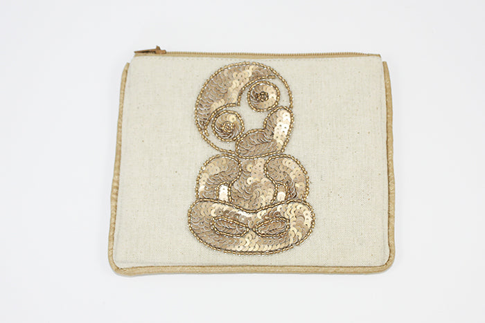 Tiki Small CoinPurse w/ Gold