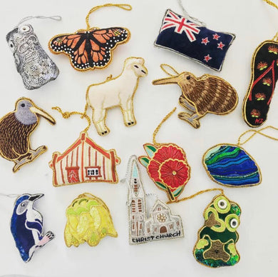 ASST pack of 6 NZ Icon Decorations