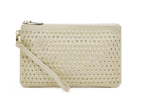 STUDDED WRISTLET - Large Cream Studs