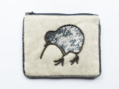 Small Coin Purse Kiwi Pewter