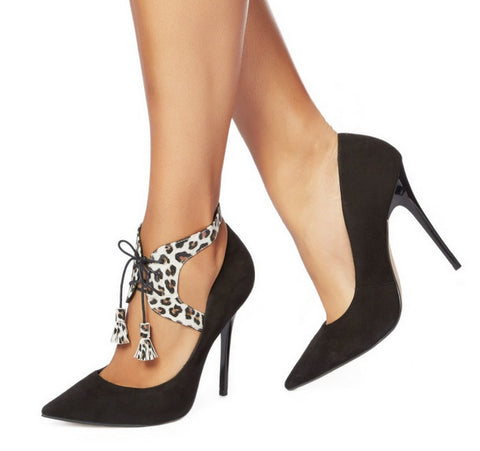 Shoe Chic - Lana Lace up Leopard