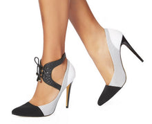 Shoe Chic - Lana Lace Up Black Texture