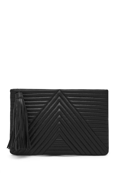 .NEW Geo Clutch Black