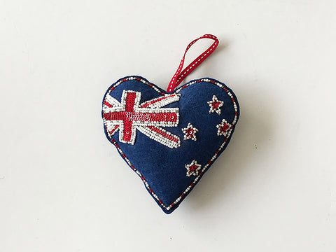 Decoration NZ Heart & Flag