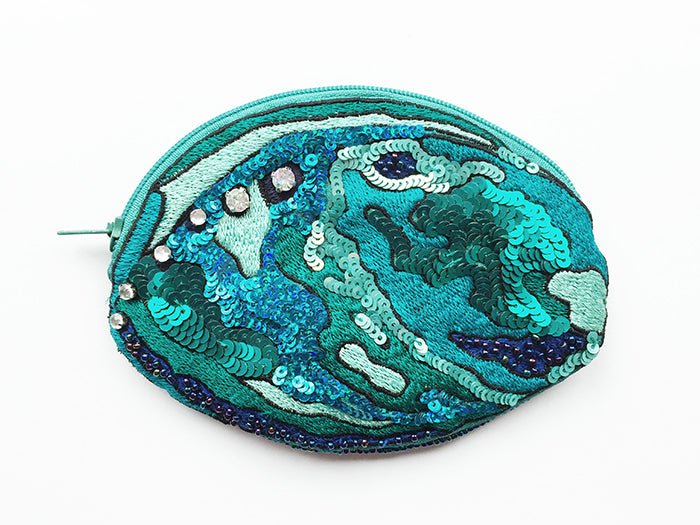 X Coin Purse Shaped Paua - SOLD OUT UNTIL JAN 10