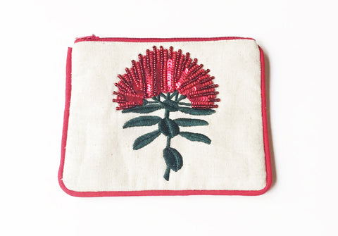 Small Coin Pohutukawa Single on Cotton