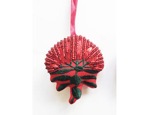 Pohutukawa Single Bloom Decoration Red Silk Hanging