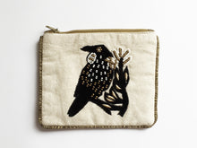 Tui Black Velvet  Small Cotton Coin Purse