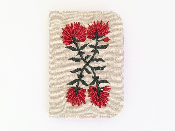 Pohutukawa Crossed Stems Passport Cover