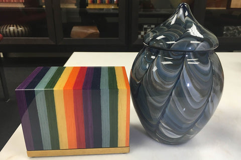 Wood Glass Pet Urns for Ashes