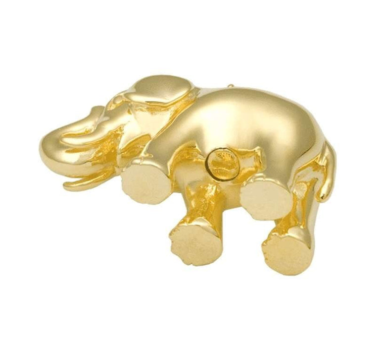 14K Gold Elephant Cremation Jewelry Pendant for Ashes (Engravable) - Modern Memorials