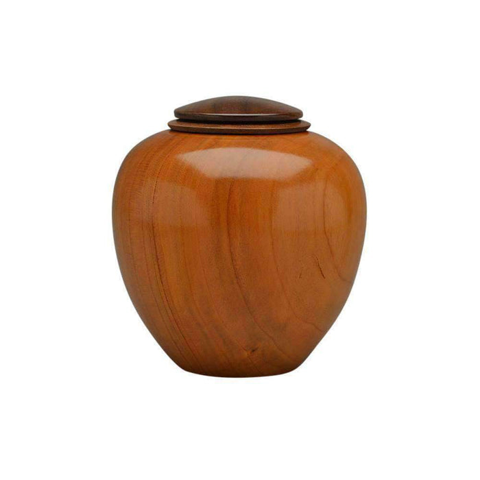 Handcrafted Cherry Wood Keepsake Urn with Walnut Top Keepsake Urn Artistic Wood Urns