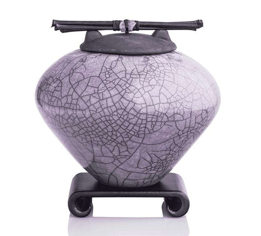 Amethyst Ceramic Keepsake or Pet Urn - Modern Memorials