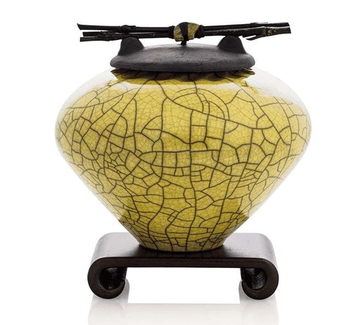 Chartreuse Ceramic Keepsake or Pet Urn - Modern Memorials