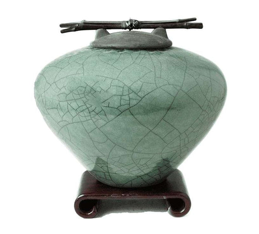 Emerald Green Ceramic Cremation Urn - Modern Memorials