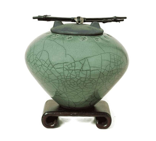 Emerald Green Ceramic Pet Urn or Keepsake - Modern Memorials
