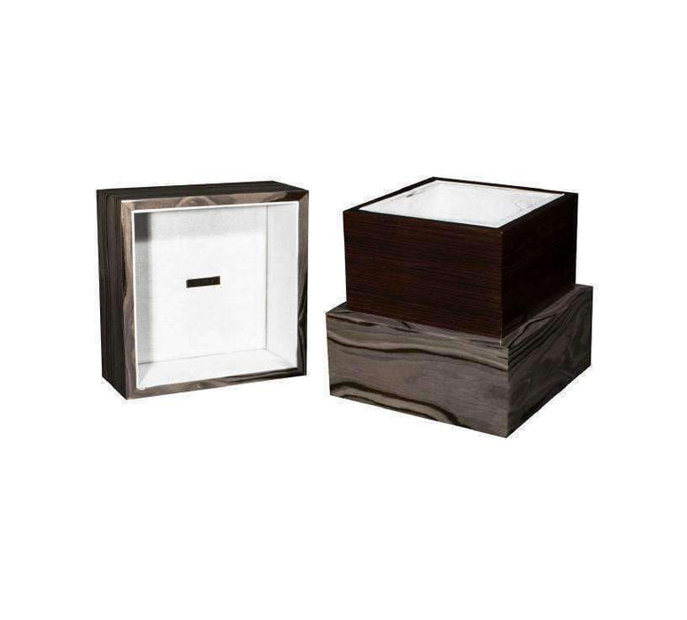 """Emotion"" Deluxe Cube - Italian Lacquered Wood Cremation Urn - Modern Memorials"