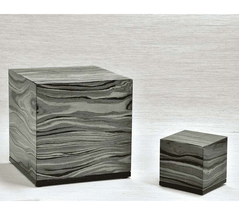 """Emotion"" Keepsake Cube - Italian Lacquered Wood Cremation Urn - Modern Memorials"