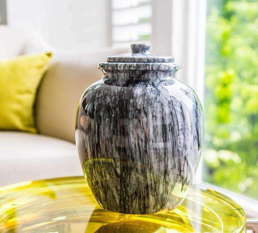 "Grey ""Legacy"" Marble Cremation Urn"