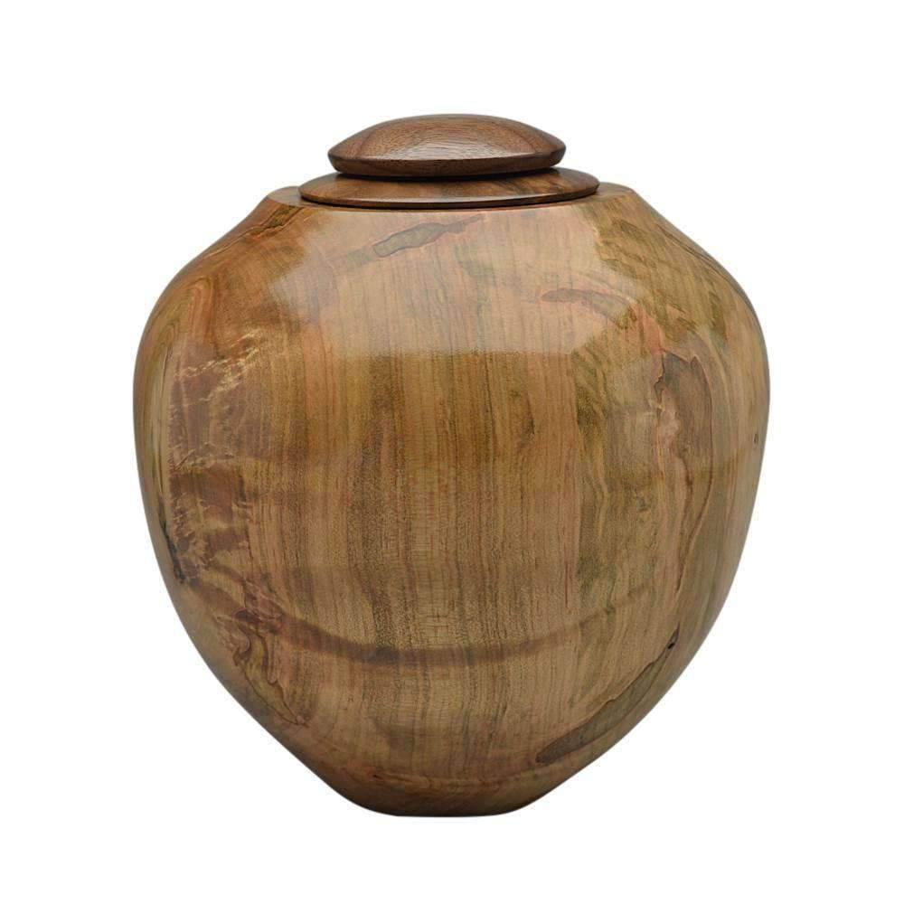 Handcrafted Ambrosia Maple Cremation Urn with Maple Top - Modern Memorials