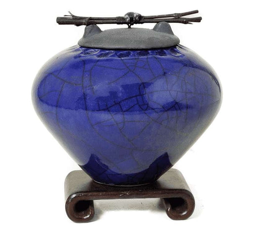 Lapis Blue Ceramic Pet Urn or Keepsake - Modern Memorials
