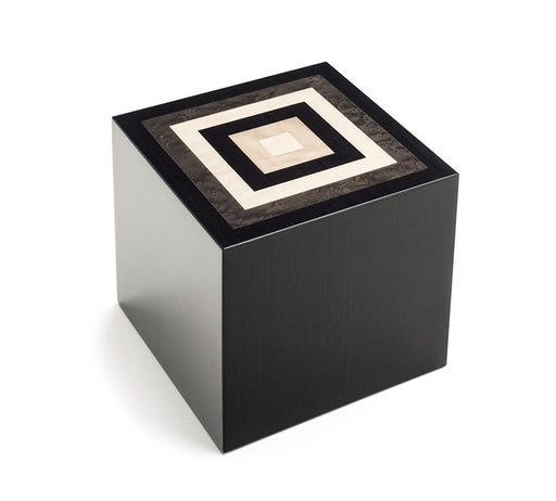 """Piazza"" Handmade Italian Lacquered Wooden Cremation Urn - Modern Memorials"