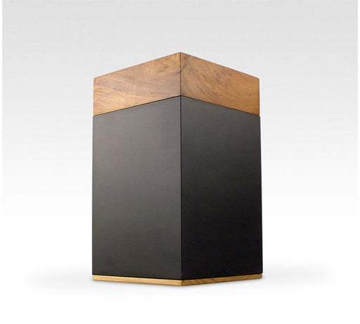 "Poplar Wood and Metal ""Meta"" Cremation Urn - Modern Memorials"