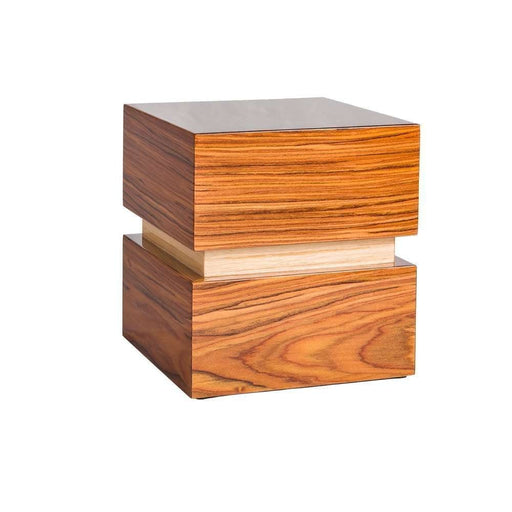 """Pure"" Deluxe Cube - Italian Lacquered Wood Cremation Urn - Modern Memorials"