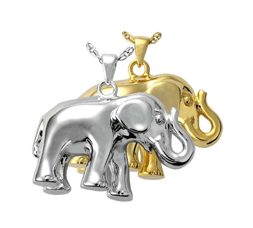 Silver Elephant Cremation Jewelry Pendant for Ashes (Engravable) - Modern Memorials