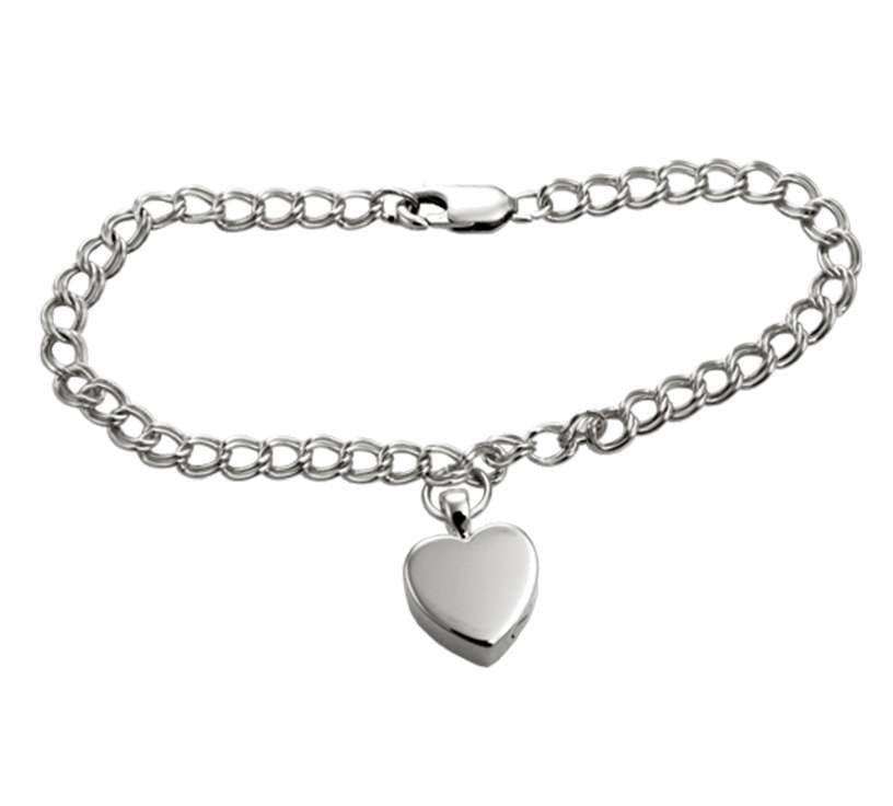 Sterling Silver Double Link Charm Bracelet Chain - Modern Memorials