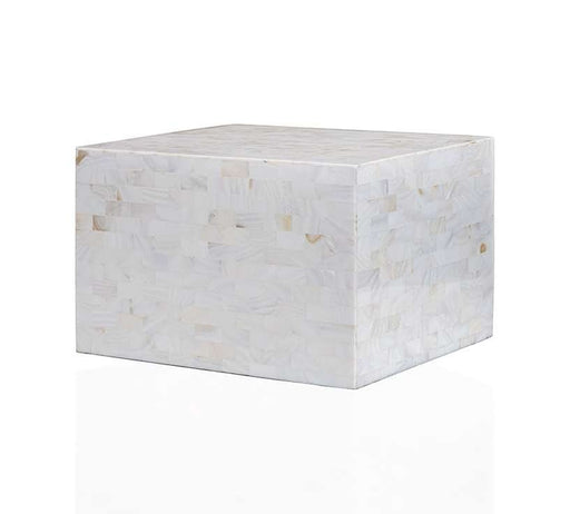 White Mother-of-Pearl Cremation Urn - Modern Memorials