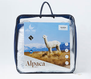 Alpaca Duvet - 400gsm Machine Washable - Made in NZ